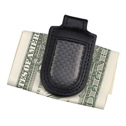 carbon leather bill clip