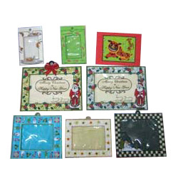 christmas cards and photo frames
