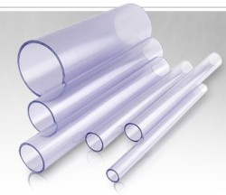 clear pvc pipes