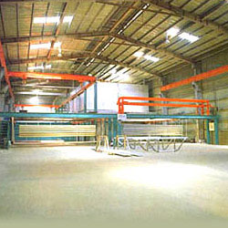 fluoring carbon coating equipment for metal screen walls