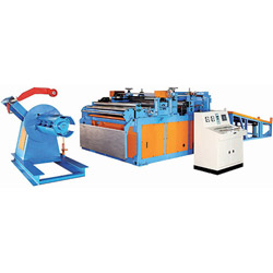 coil straightener cutting to length line