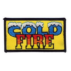 cold fire embroidered patch