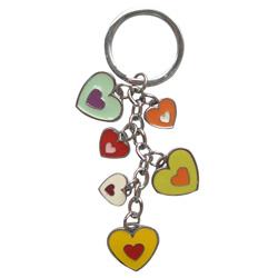 color heart shape pendants with enamel