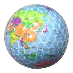 colorful transparence golf ball