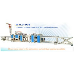 compact double sidedhot roll laminating lines