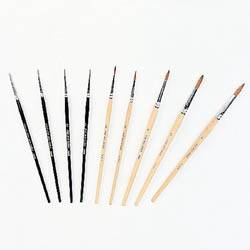 cosmetic brushes, pure red sable.