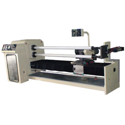 dual axis automatic cutting and winding equipment