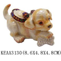 dog trinket box