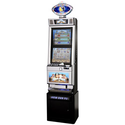 double screen metal slot machine