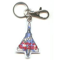 double-sided embroidered patch keychain