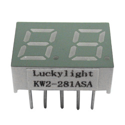 "0.28"" dual digit numeric displays"