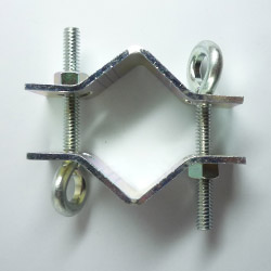 dual guy wire mast clamp