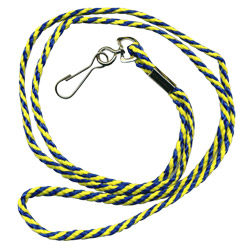 economy 2 color cord lanyards