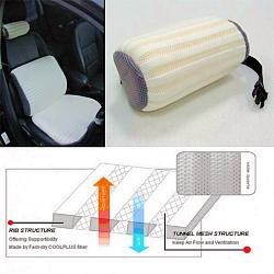 elastic mesh neck cushion