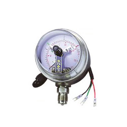 electric contacts pressure gauge