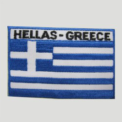 emboridered greece flag