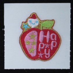 embroidered apple sticker