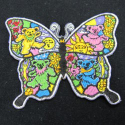 embroidered butterfly iron patch