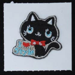 embroidered cat sticker