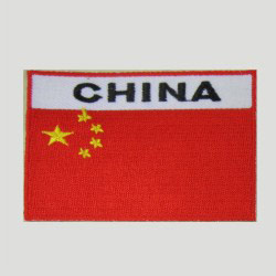 embroidered china flag