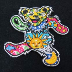 embroidered dancing bear