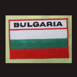 embroidered flag sticker