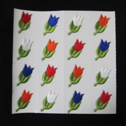 embroidered flower sticker