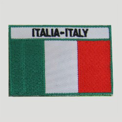 embroidered italy flag