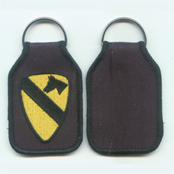 embroidered keyfobs