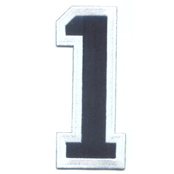 Embroidered Patches (Number)