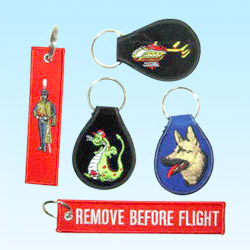 embroidered patch with key holder
