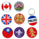 Embroidered Patches, Tinplates, Key Chains