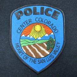 embroidered police emblem