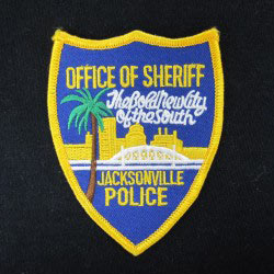 embroidered police patch