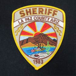 embroidered sheriff emblem