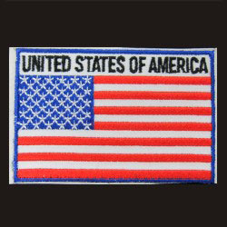 embroidered usa flag