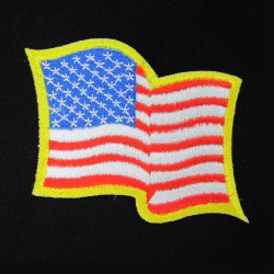 embroidered waving flag