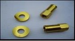extended rim lock nuts with beveled spacers