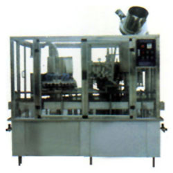 rinsing pressure filling and rotary capping combined machine