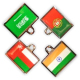Flag Zipper Pulls-9