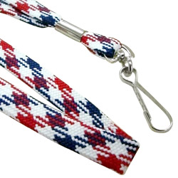 10mm flat lanyard with bright patterns