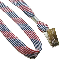 10mm flat lanyard with frosted patterns