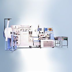 flat type automatic wettowel packing machine