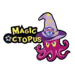 football octopus embroidered emblems