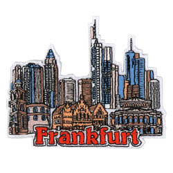 frankfurt embroidered patch