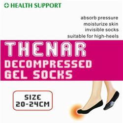 front thenar pressure reduced gel socks