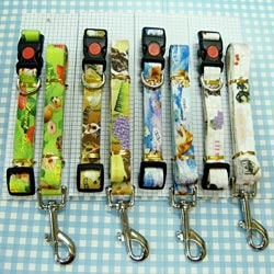 full color pet leash collar