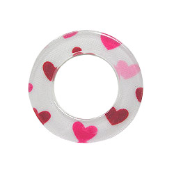 o ring with heart fabric ( garment accessories )