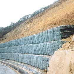geotextile hillside protection construction