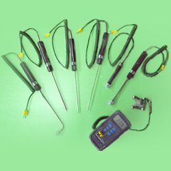 handheld digital thermometer and probe